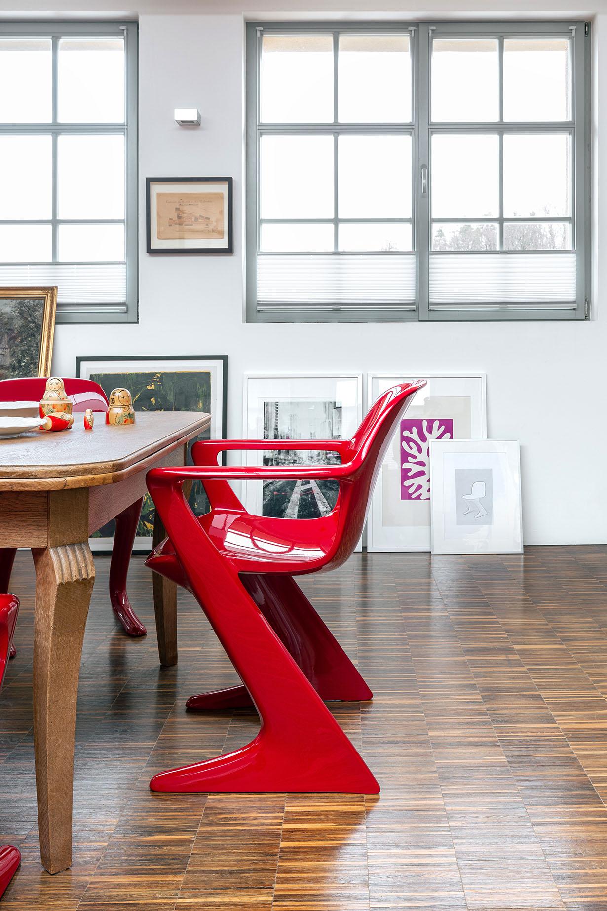 z.stuhl Klassisches Möbeldesign - Weinrot Esstisch